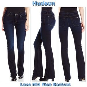 Hudson Love Mid Rise Bootcut in Redux 28